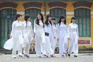 áo dài đồng phục học sinh việt nam