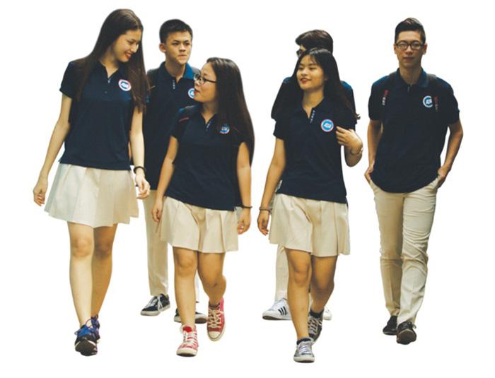 Đồng phục học sinh cấp 3 thể hiện tính tập thể