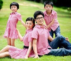 áo somi gia đình 4 người