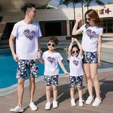 đồng phục gia đình 4 người đẹp in thiêu