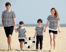 đồng phục gia đình 4 người đi biển